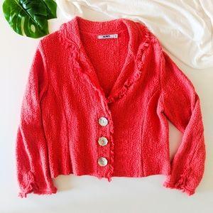 ACORN Cotton Fringe Boho Style Jacket l